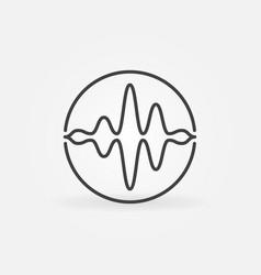 Sound wave in circle concept icon vector