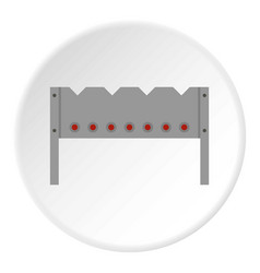 Steel brazier icon circle vector