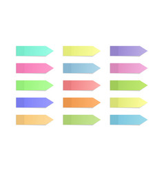Sticky note paper memo sticker label with shadow vector