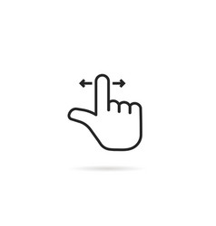 Swipe scroll like thin line hand vector