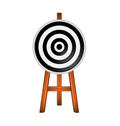 target in black and white design vector image