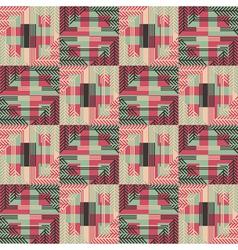 Textured geometric seamless pattern vector