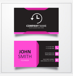 Time back icon business card template vector
