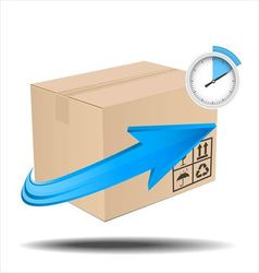 Time delivery services vector image