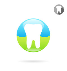 tooth medical icon concept of a healthy teeth vector image
