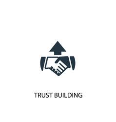 Trust building icon simple element vector