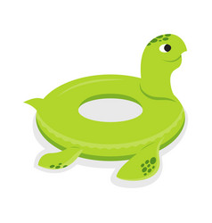 Turtle inflatable rubber circle vector