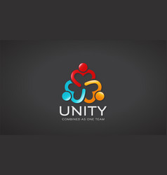 unity people graphic vector image