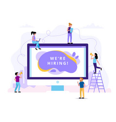 we re hiring concept for human vector image