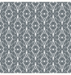 whitegrey vintage seamless pattern vector image
