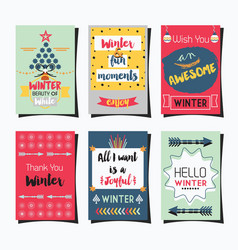 Winter greetings template journaling and note vector