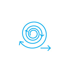 work cycles linear icon concept work cycles line vector image