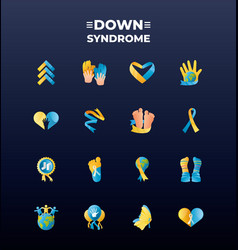 World down syndrome day campaign awareness vector