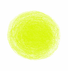 Yellow crayon scribble texture stain isolated on vector