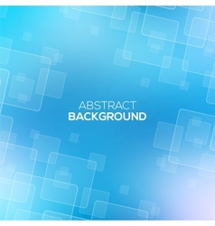 Abstract Blue background with transparent squares vector image