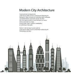 City Financial Center Poster vector image