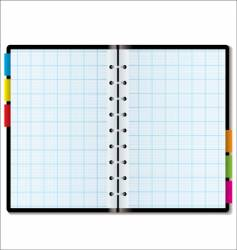 organizer graph vector image