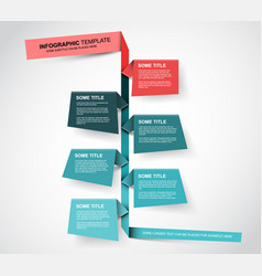 paper timeline template vector image vector image