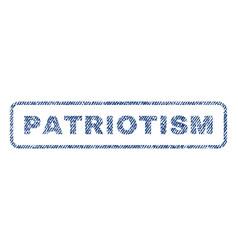 patriotism textile stamp vector image vector image
