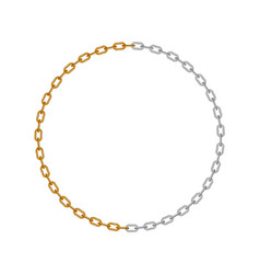 chain in shape of circle vector image