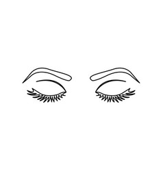outline woman with closed eyes vector image