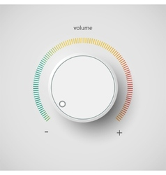 Volume control vector image vector image