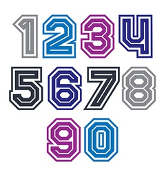 Colorful regular stripy numeration modern poster vector image vector image