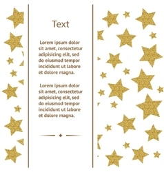 Greeting card with gold stars vector image vector image