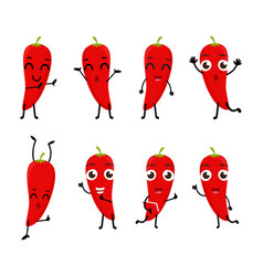 happy chili cartoon character vector image