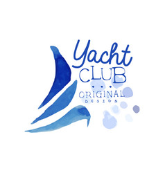 Original logo template for yacht club abstract vector