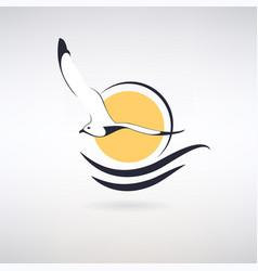 symbol seagull vector image
