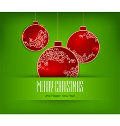 christmas ornament green background 10 SS v vector image vector image