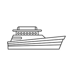 Great powerboat icon outline style vector image