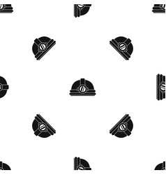 helmet with light pattern seamless black vector image vector image