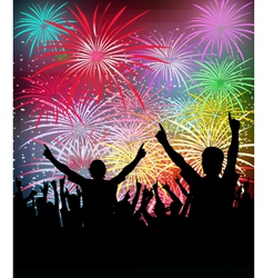 NewYears Party Fireworks- vector image vector image