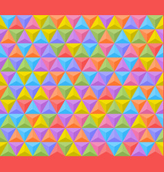 3d shadowed colorful triangles seamless pattern vector image