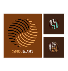 abstract logo yin yang symbol harmony and balance vector image