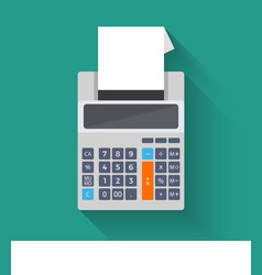 Adding counting machine flat vector