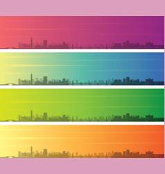 Alexandria multiple color gradient skyline banner vector