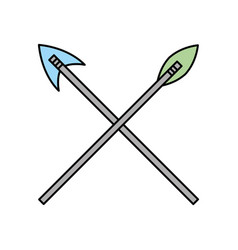 antique arrows isolated icon vector image