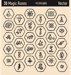 antique magic runes vector image