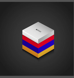 armenia flag vote box vector image