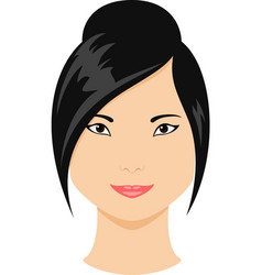 asian girl avatar vector image