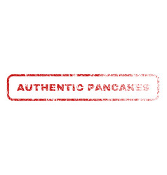 Authentic pancakes rubber stamp vector