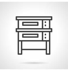 Baking equipment black line design icon vector image