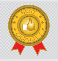 best quality icon with transparent background vector image