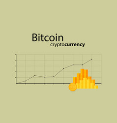 bitcoin crypto currency stick graph chart of stock vector image
