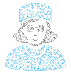 blind nurse mesh network model vector image