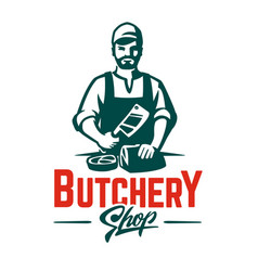 Butcher emblem vector