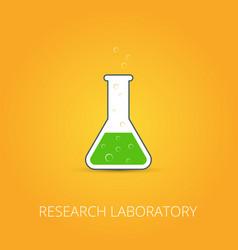 chemistry icon set of icon beaker vector image